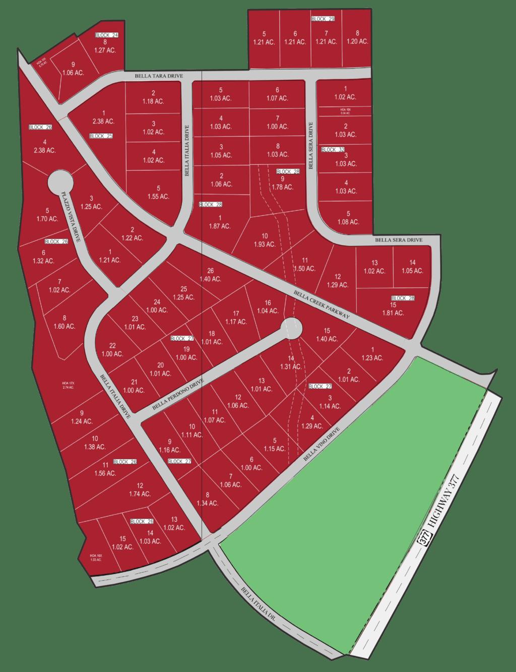 bella map